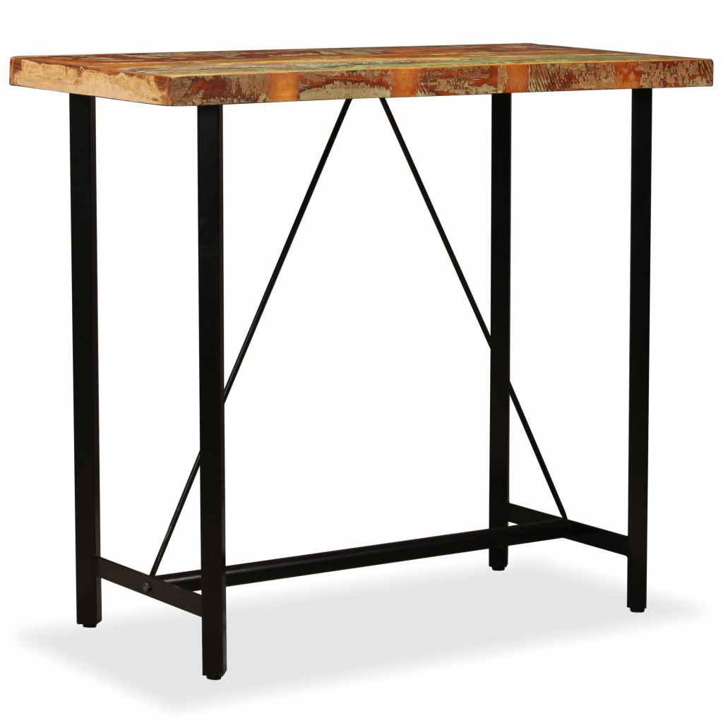 Bar Table 120x60x107 cm Solid Reclaimed Wood 9