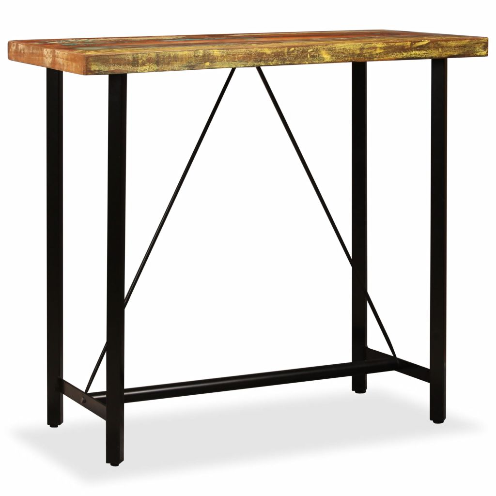 Bar Table 120x60x107 cm Solid Reclaimed Wood 10