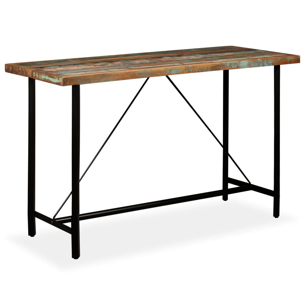 Bar Table 180x70x107 cm Solid Reclaimed Wood 10