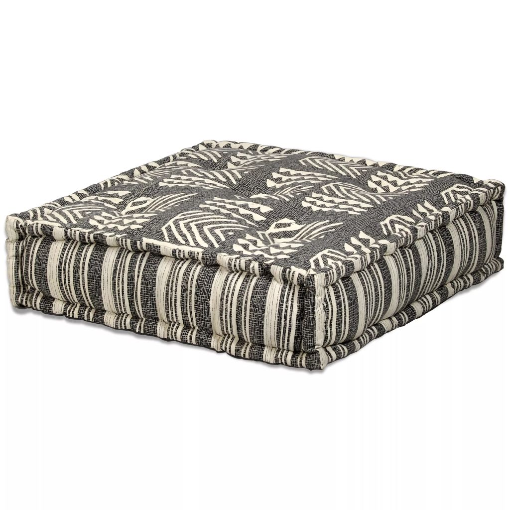 2-Seater Modular Sofa Bed Fabric Stripe 11