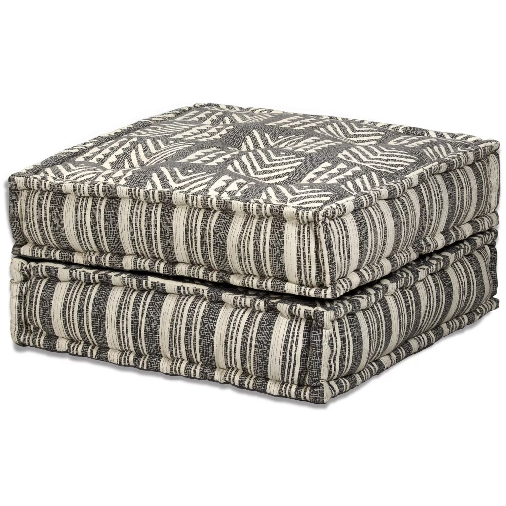 2-Seater Modular Sofa Bed Fabric Stripe 10