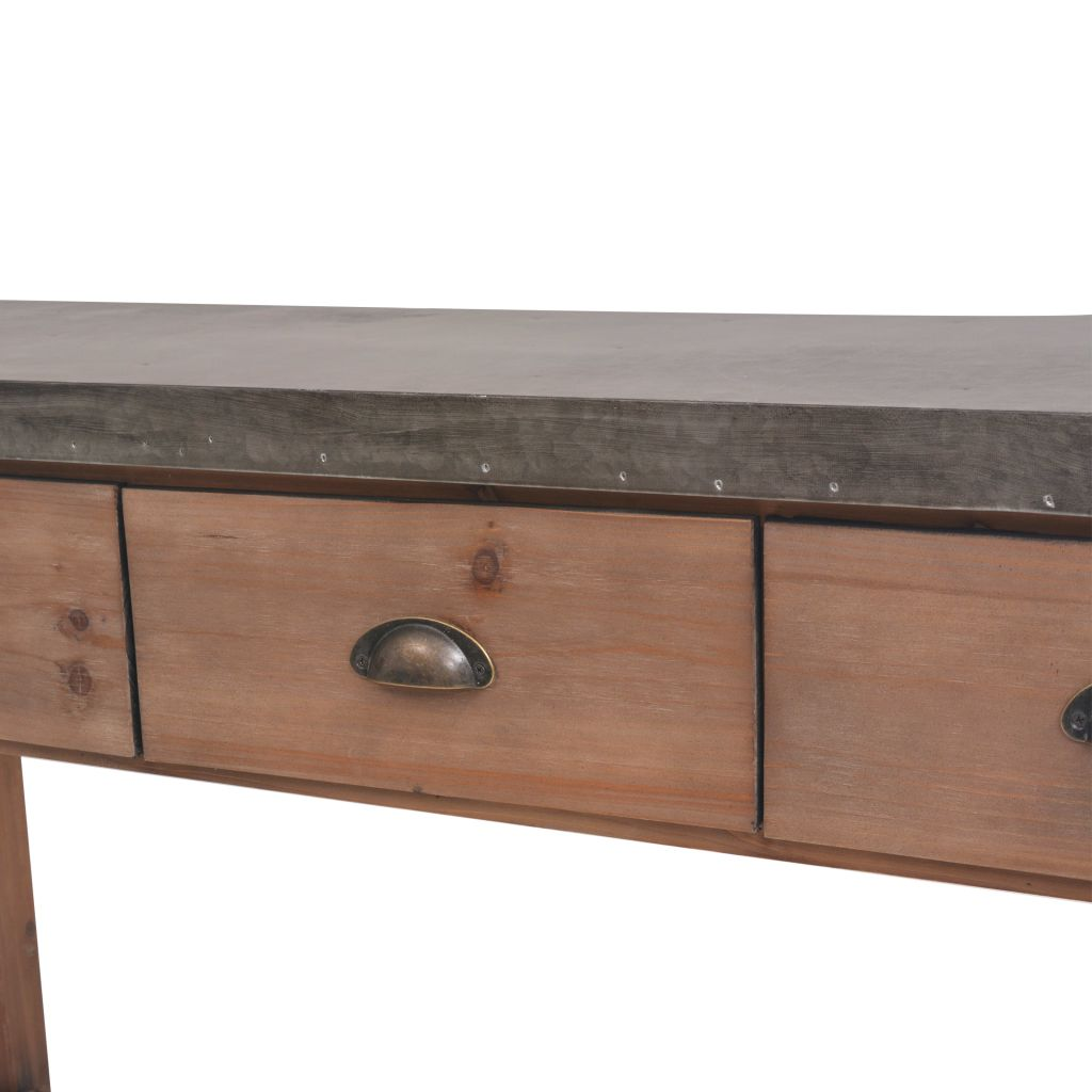 Console Table Solid Fir Wood 122x35x80 cm 6