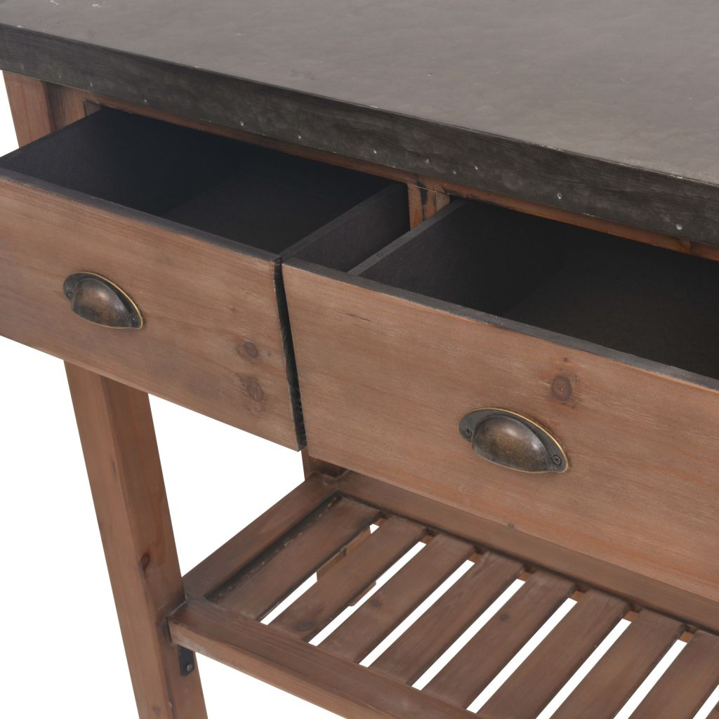 Console Table Solid Fir Wood 122x35x80 cm 7