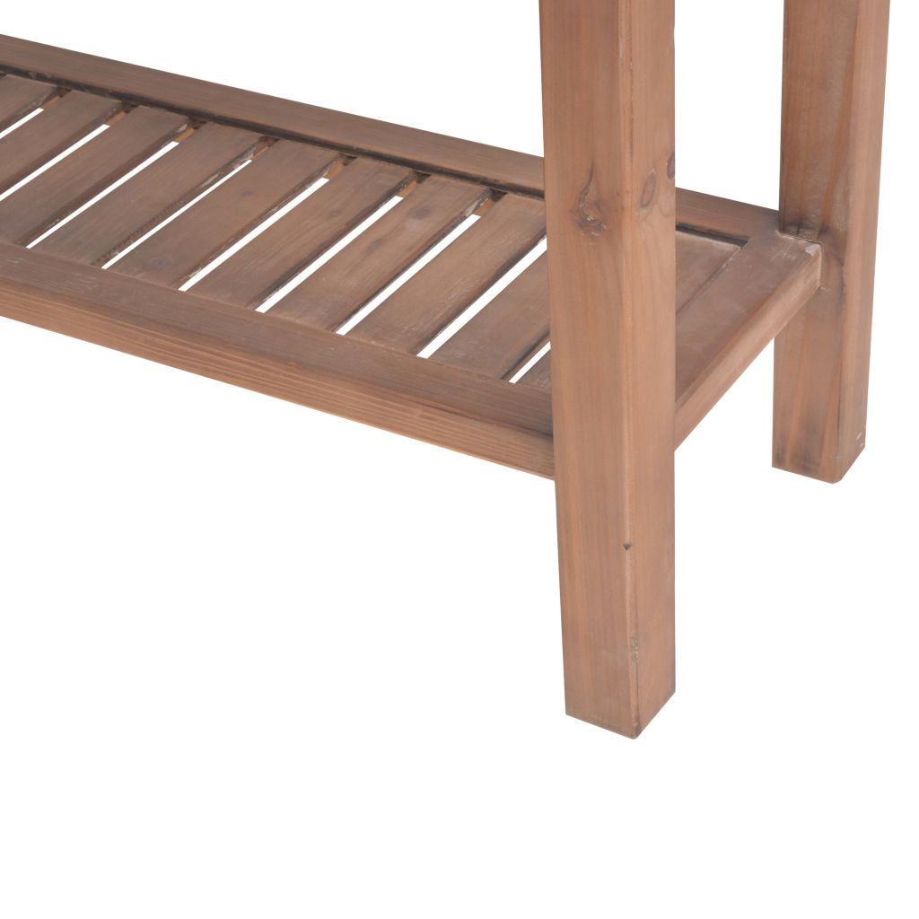 Console Table Solid Fir Wood 122x35x80 cm 9