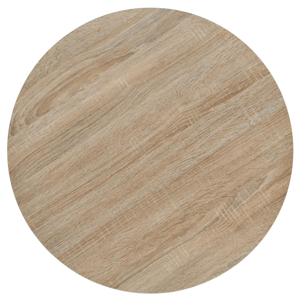 Bistro Table MDF and Steel Round 60×75 cm Oak Colour 4