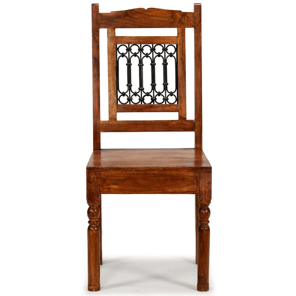 Dining Chairs 2 pcs Solid Wood with Sheesham Finish Classic 2
