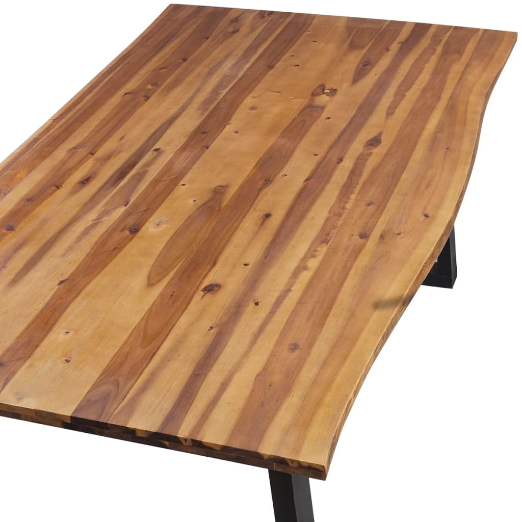 Dining Table Solid Acacia Wood 200x90x75 cm 3