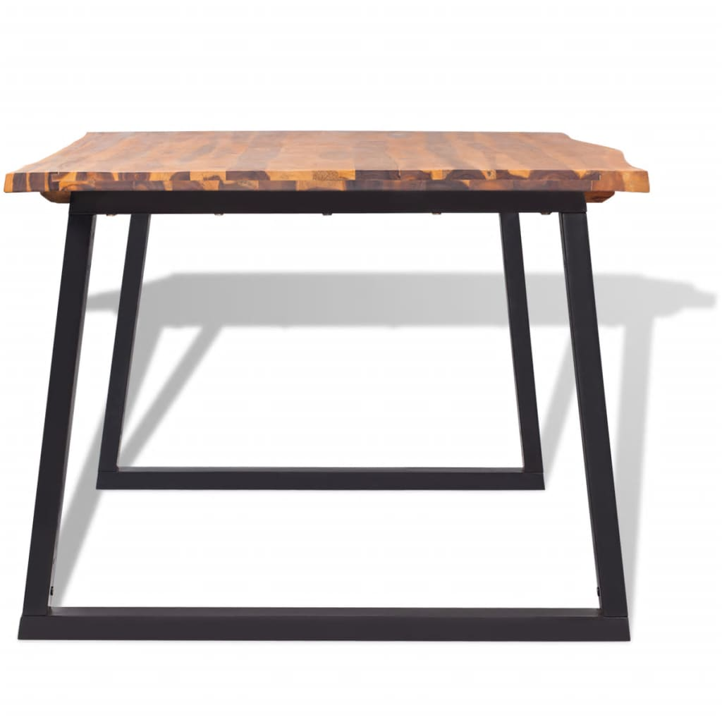 Dining Table Solid Acacia Wood 200x90x75 cm 4