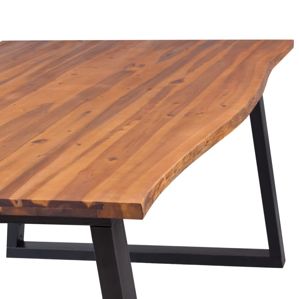 Dining Table Solid Acacia Wood 200x90x75 cm 5