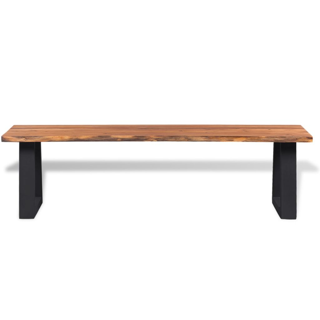 Bench Solid Acacia Wood 160 cm 2