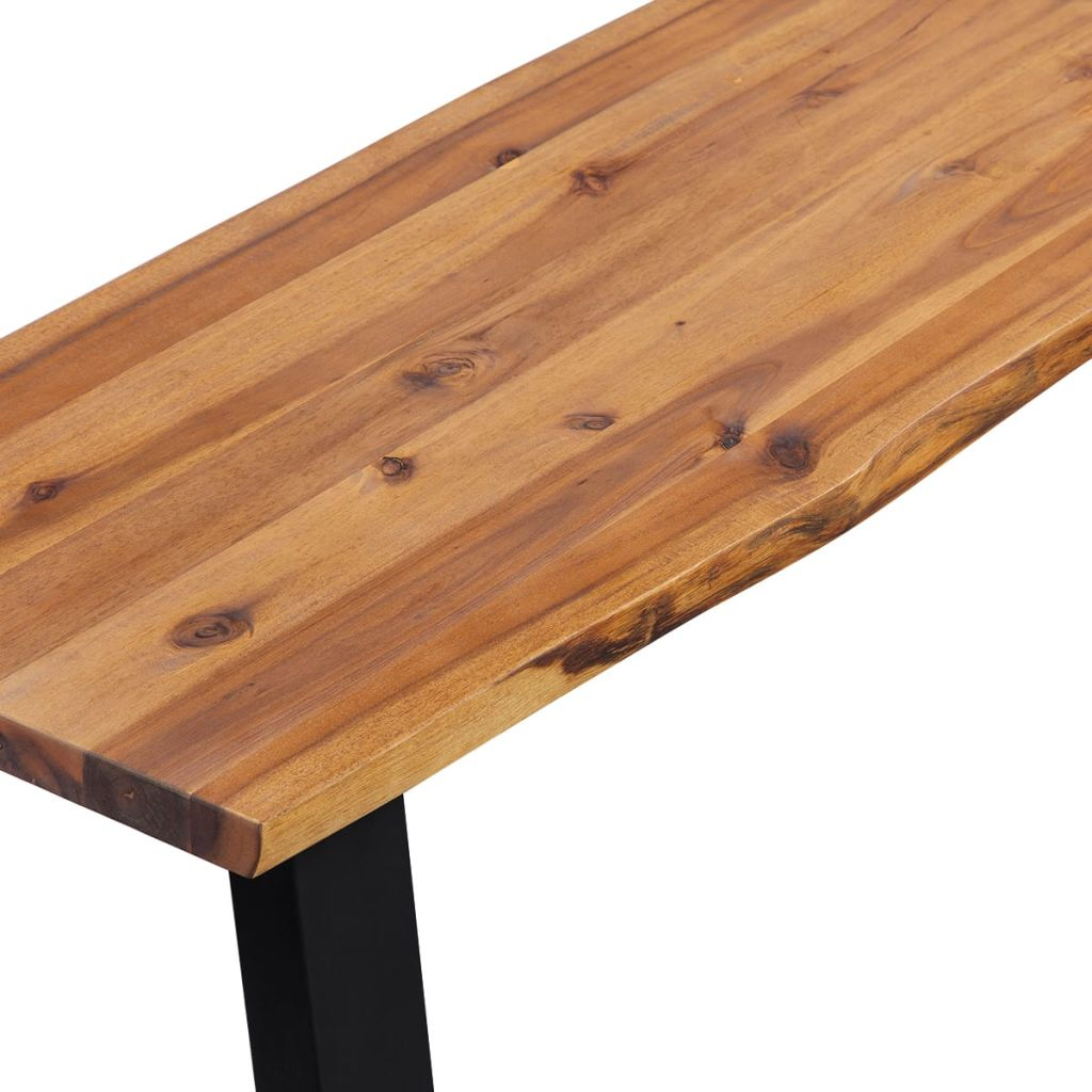 Bench Solid Acacia Wood 160 cm 4