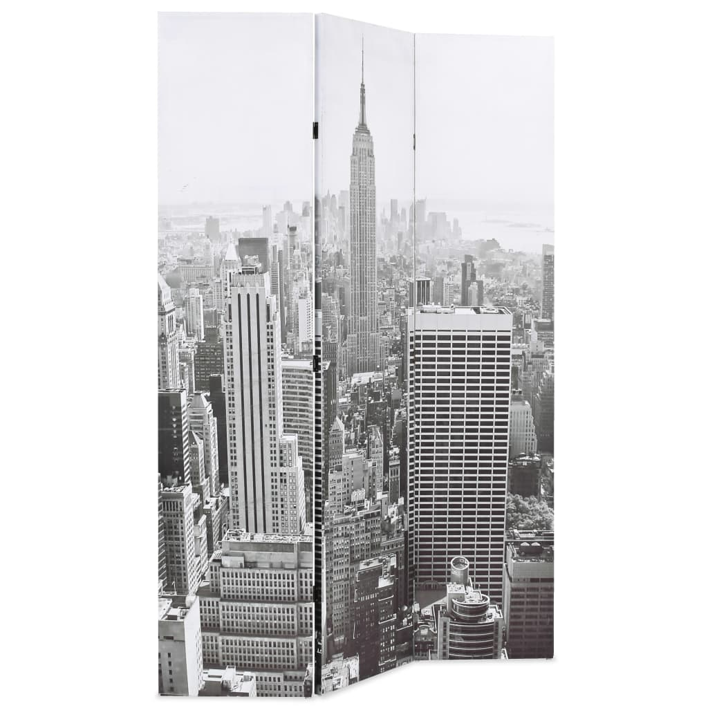 Folding Room Divider 120×180 cm New York by Day Black and White 3