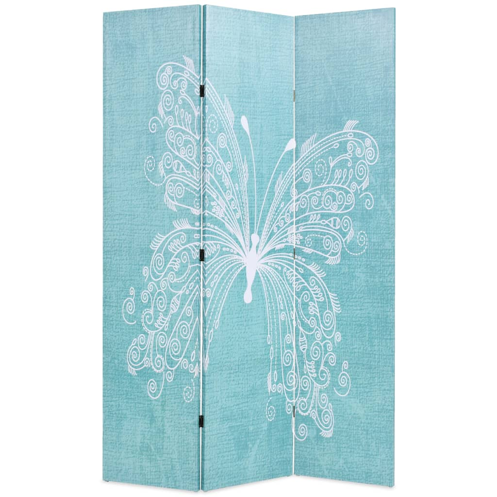 Folding Room Divider 120x180 cm Butterfly Blue