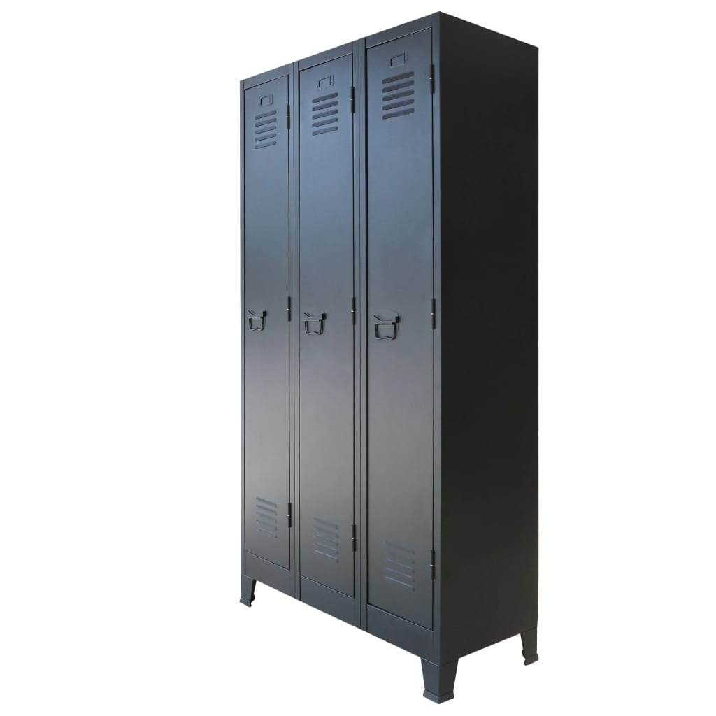Locker Cabinet Metal Industrial Style 90x45x180 cm 1