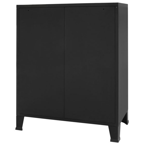 Chest of Drawers Metal Industrial Style 78x40x93 cm Black 4