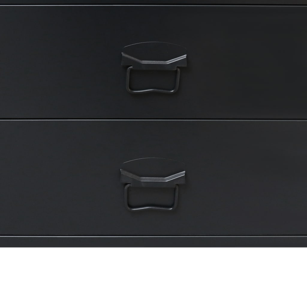 Chest of Drawers Metal Industrial Style 78x40x93 cm Black 6