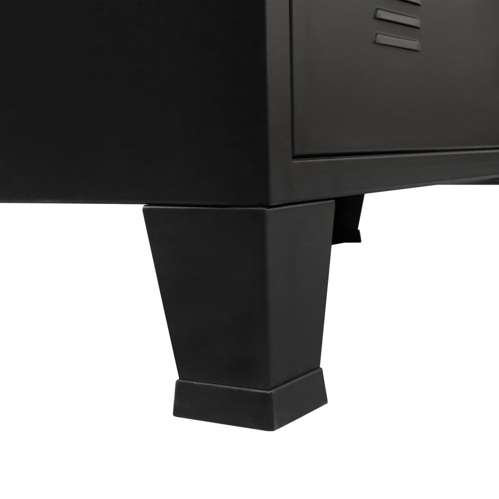 Chest of Drawers Metal Industrial Style 78x40x93 cm Black 8