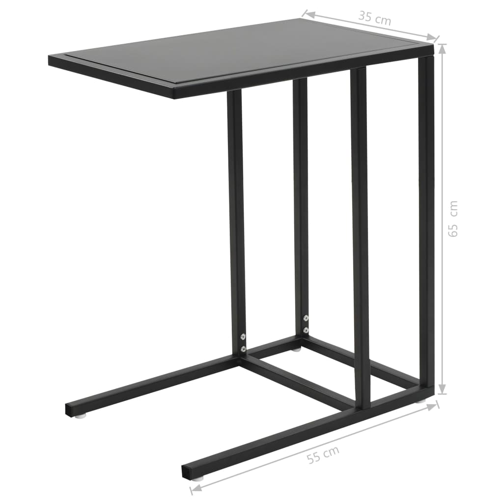 C-Table Metal 35x55x65 cm Black 9