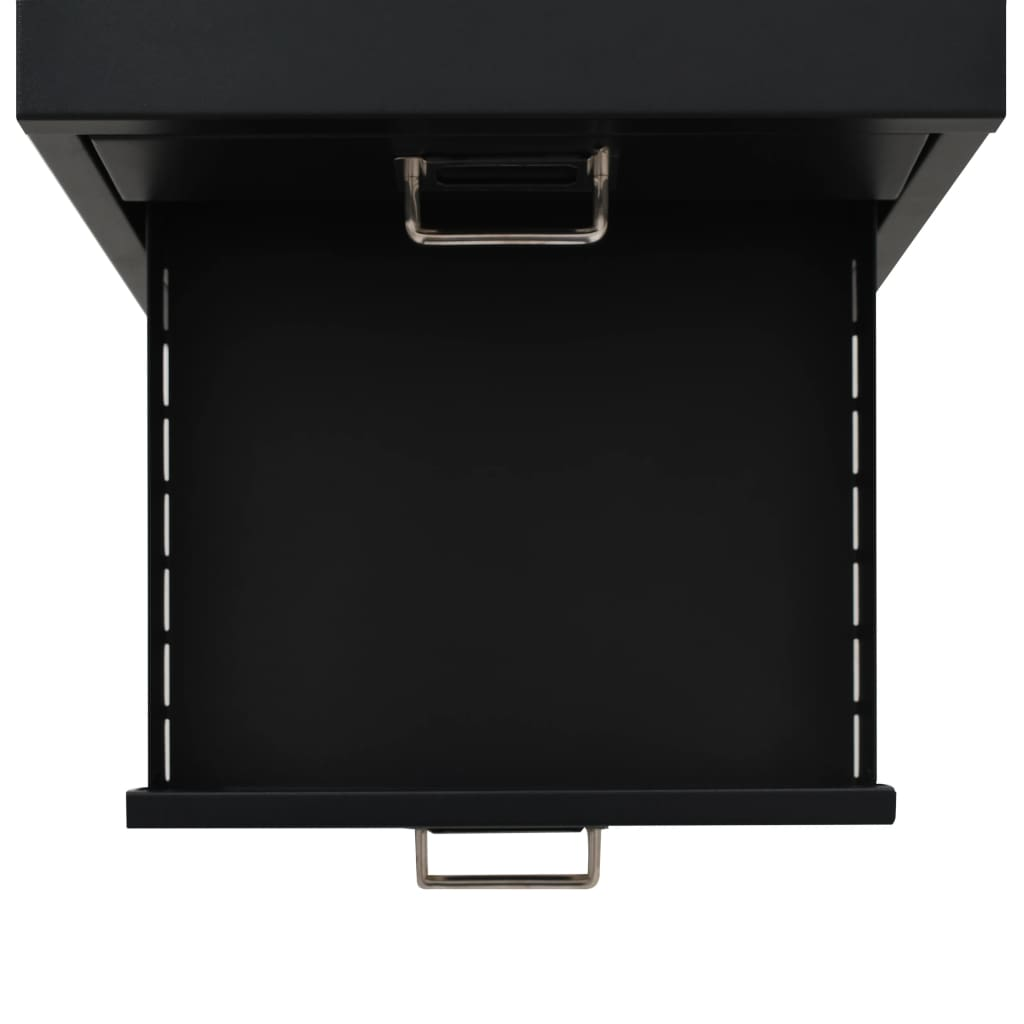 Filing Cabinet with 5 Drawers Metal 28x35x35 cm Black 4