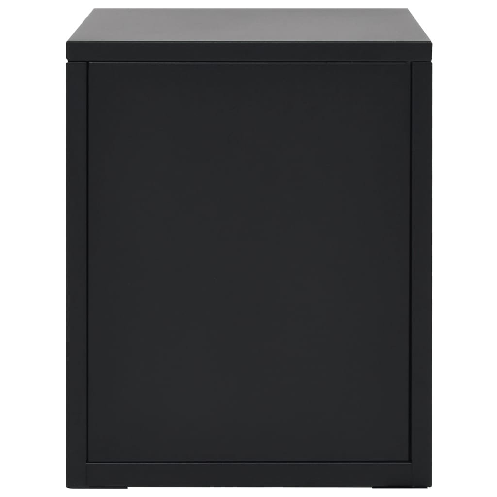 Filing Cabinet with 5 Drawers Metal 28x35x35 cm Black 6