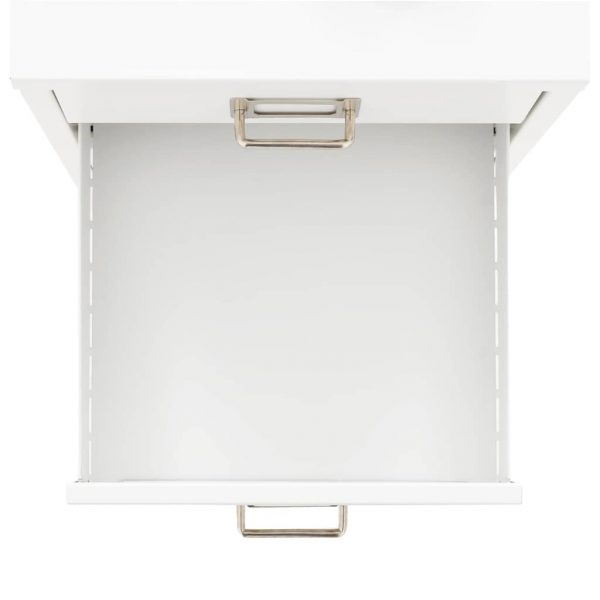 Filing Cabinet with 5 Drawers Metal 28x35x35 cm White 4