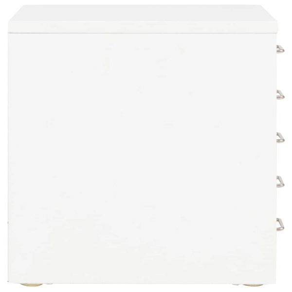 Filing Cabinet with 5 Drawers Metal 28x35x35 cm White 5