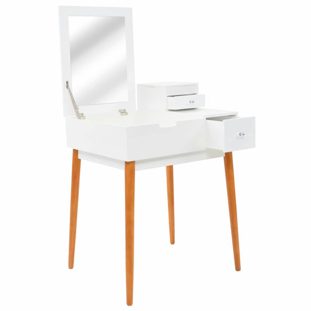 Dressing Table with Mirror MDF 60x50x86 cm 1