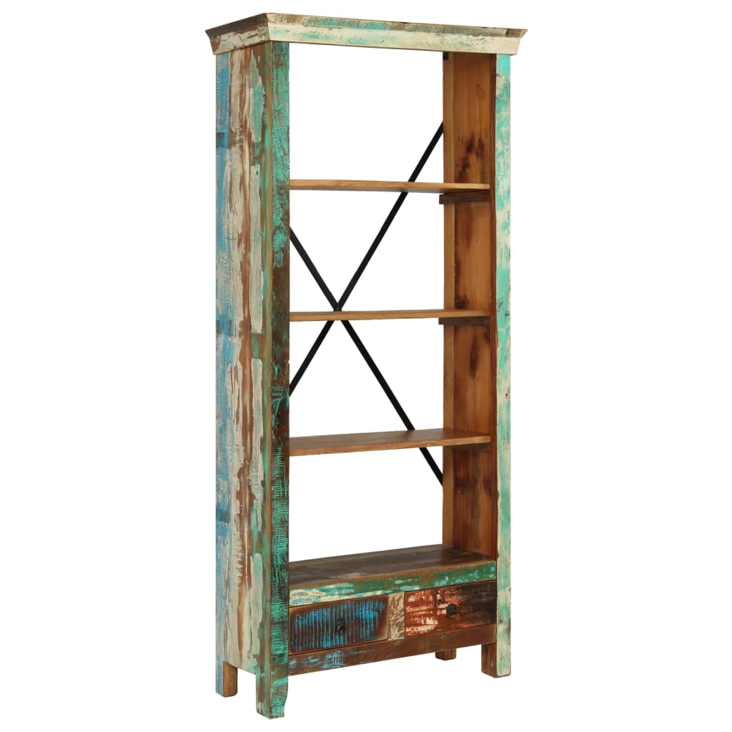 Bookcase Solid Reclaimed Wood 80x35x180 cm