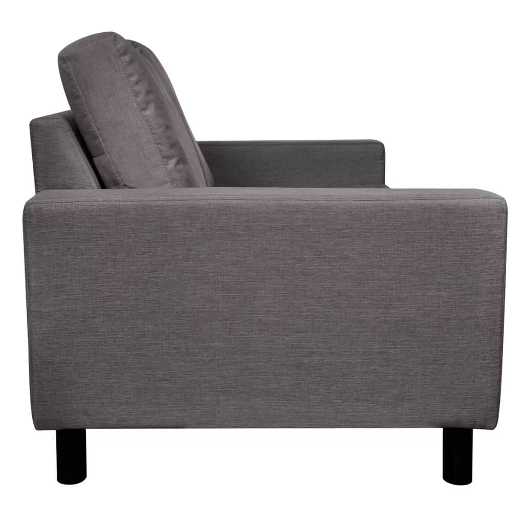 5-Person Sofa Set 2 Pieces Dark Grey Fabric 6