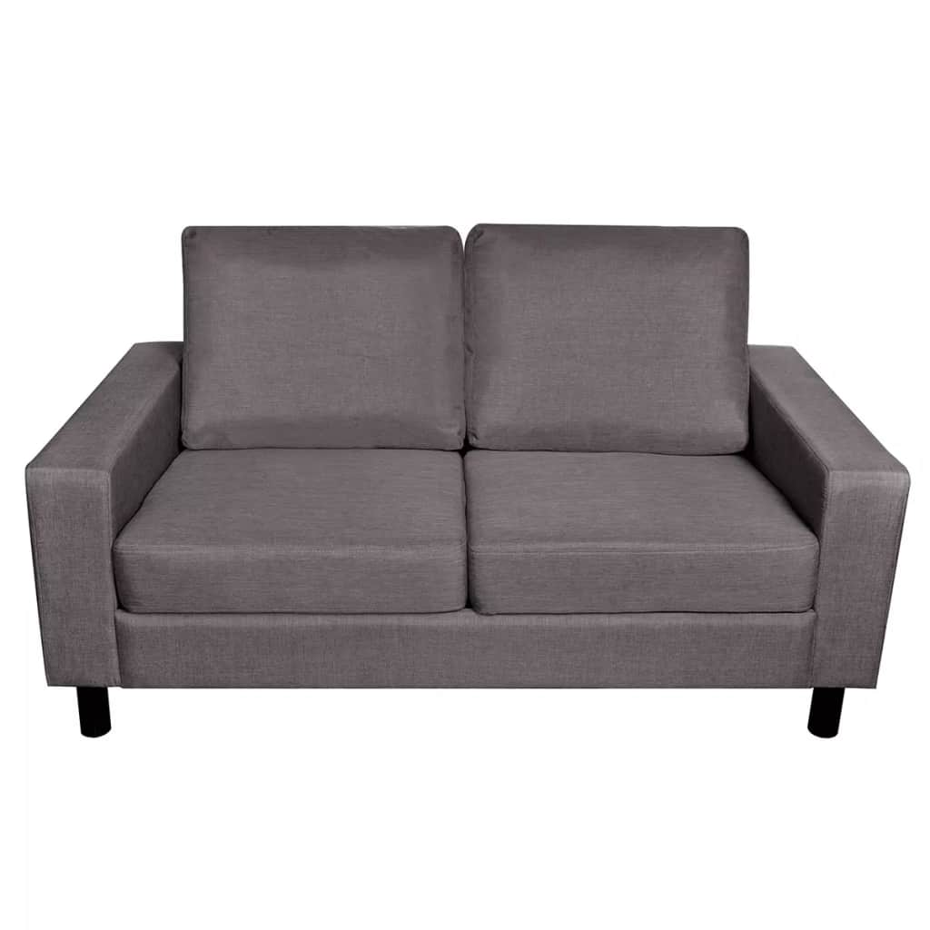 5-Person Sofa Set 2 Pieces Dark Grey Fabric 8