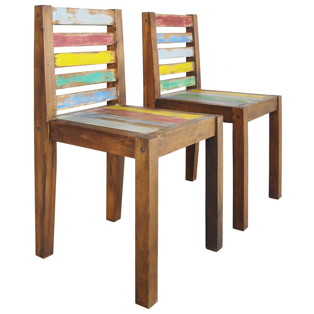Dining Chairs 2 pcs Solid Reclaimed Boat Wood