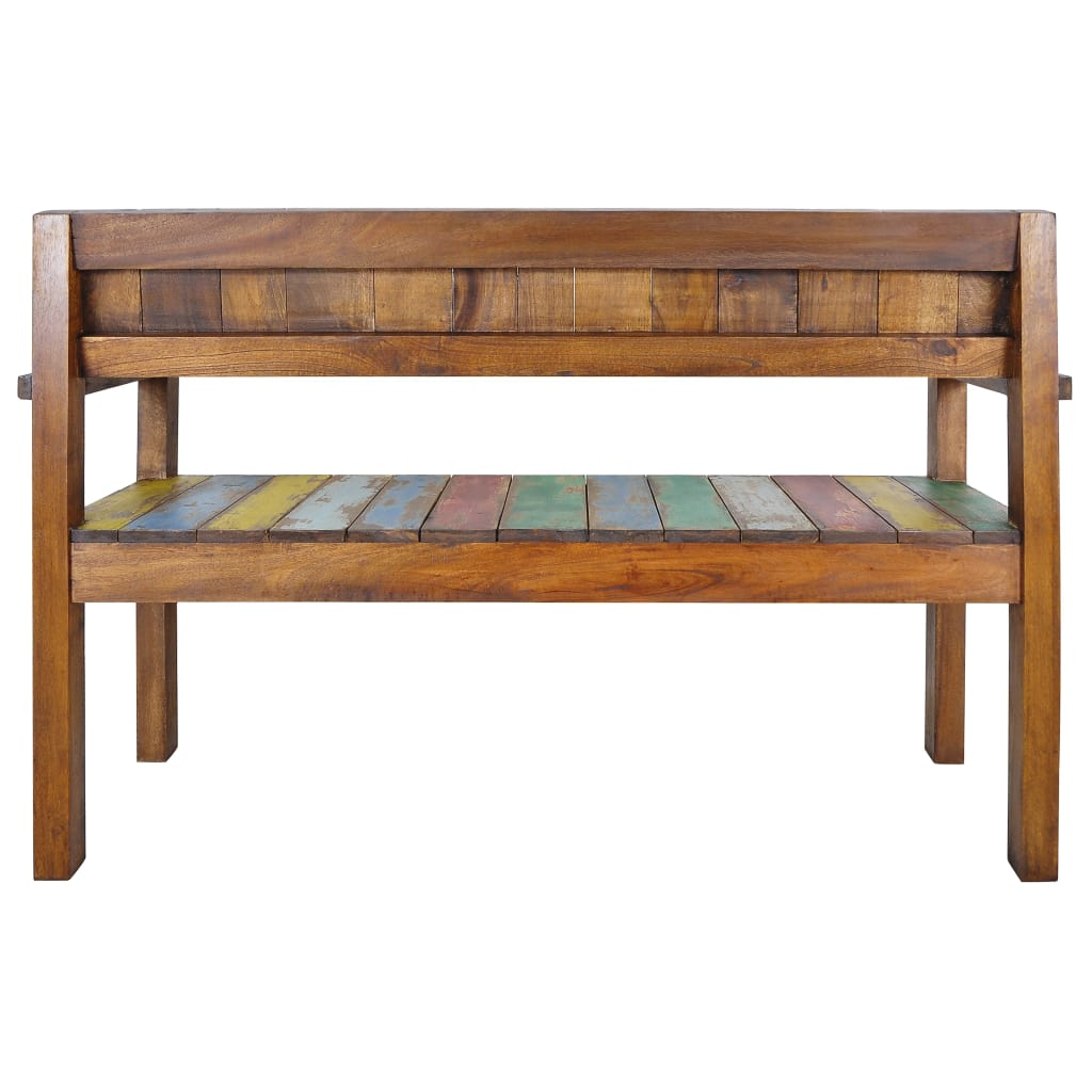 Bench Solid Reclaimed Boat Wood 125x51x80 cm 4