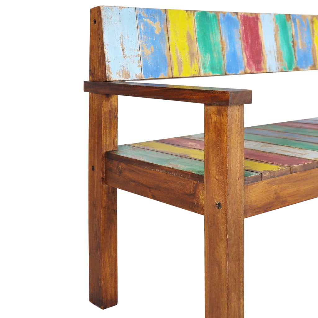 Bench Solid Reclaimed Boat Wood 125x51x80 cm 5