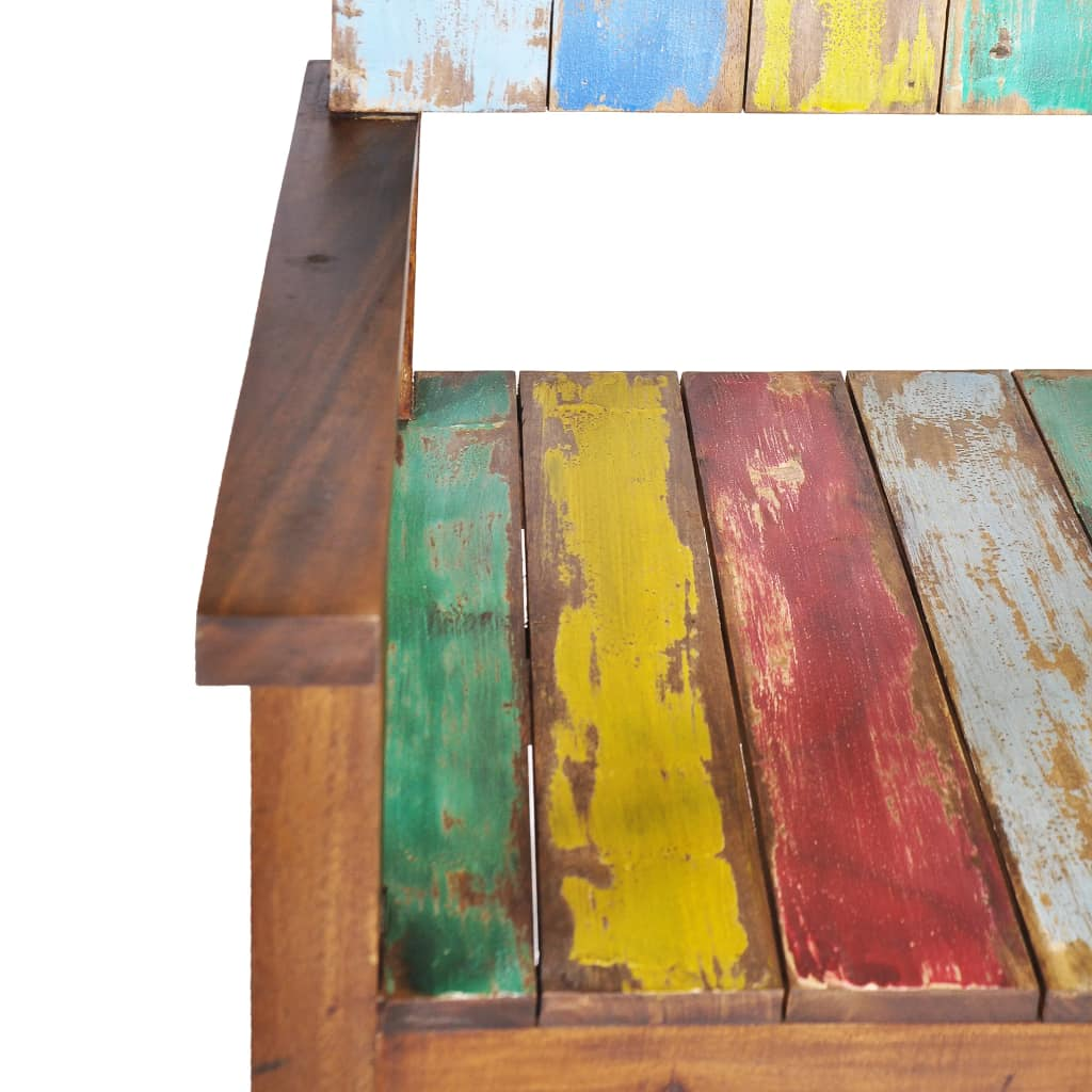 Bench Solid Reclaimed Boat Wood 125x51x80 cm 6