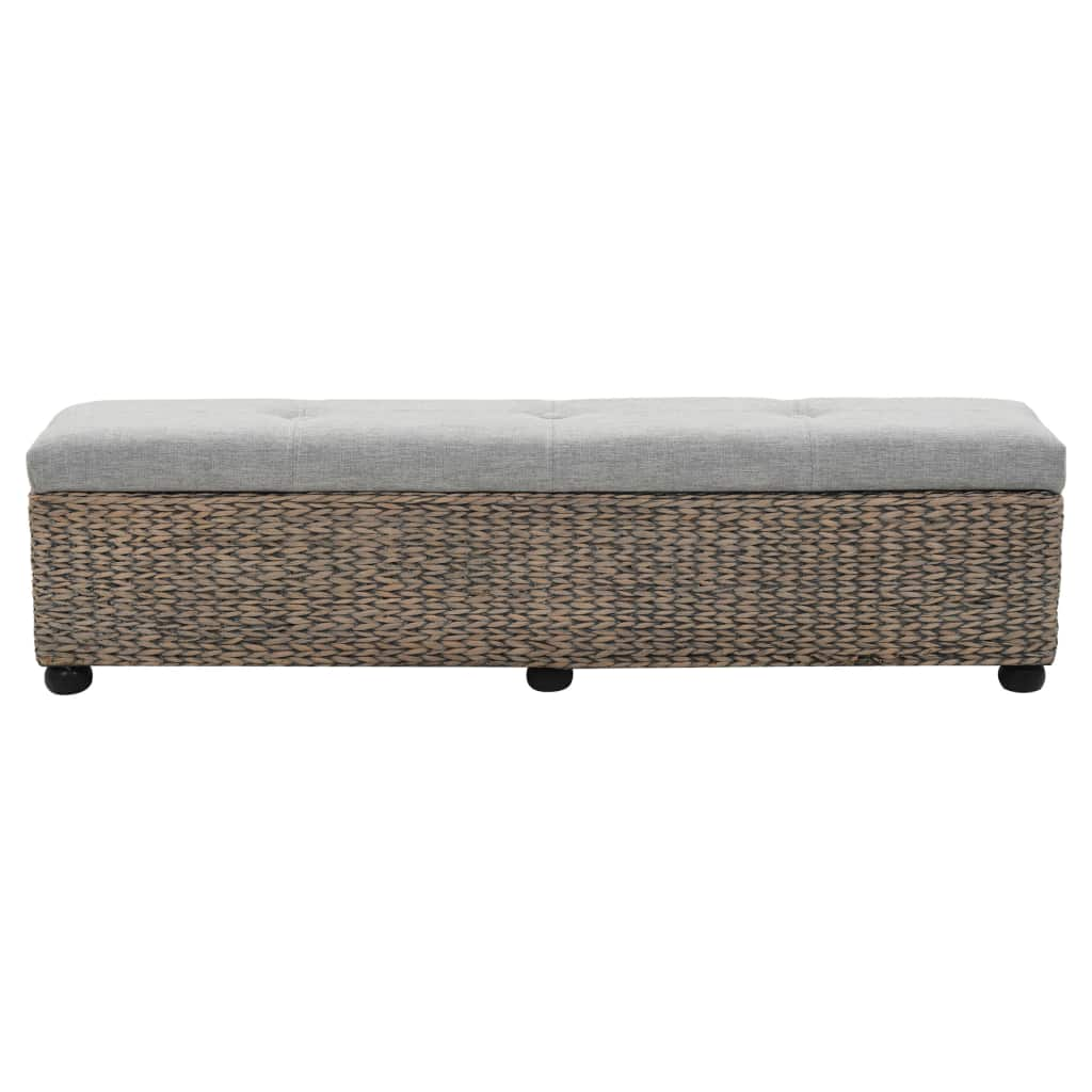 Bench Seagrass 140x29x36 cm Grey 2