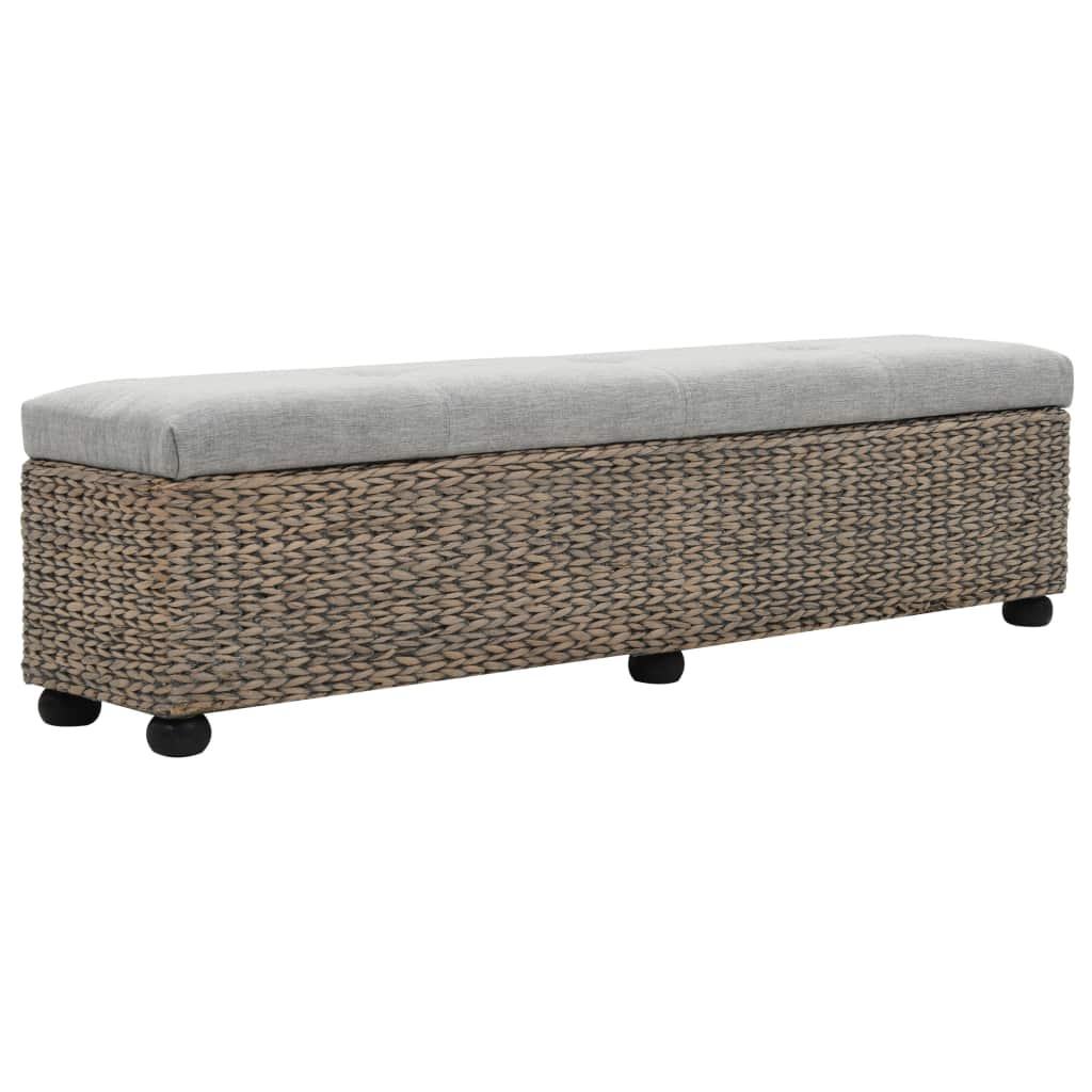 Bench Seagrass 140x29x36 cm Grey 3