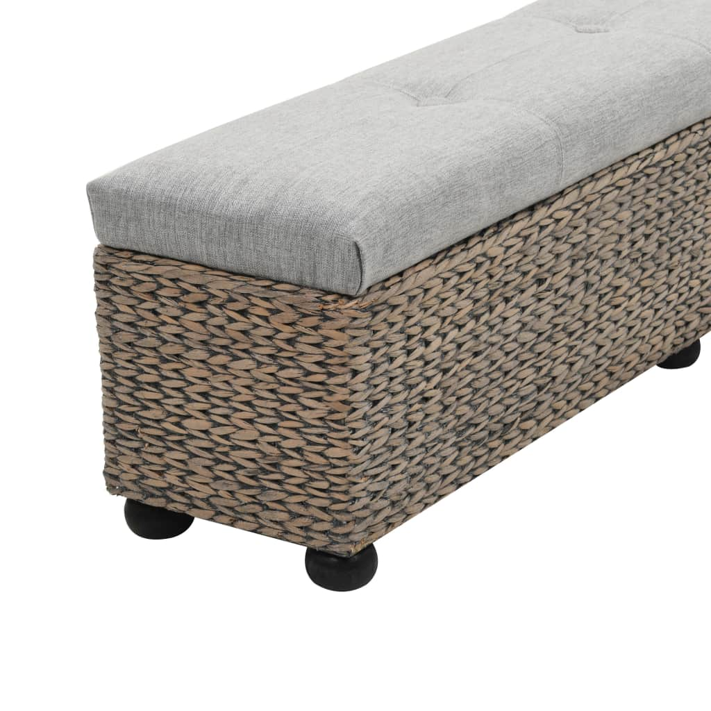 Bench Seagrass 140x29x36 cm Grey 4