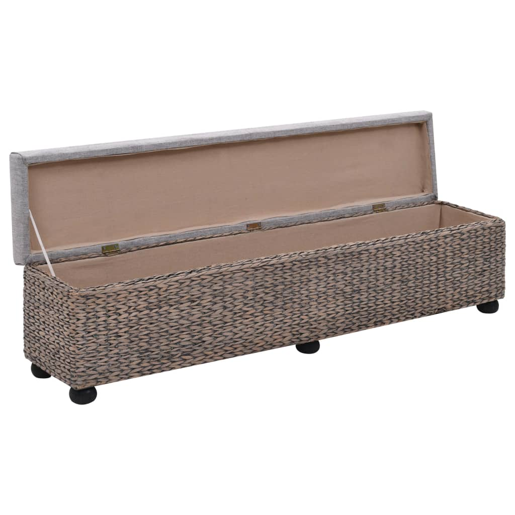 Bench Seagrass 140x29x36 cm Grey 5