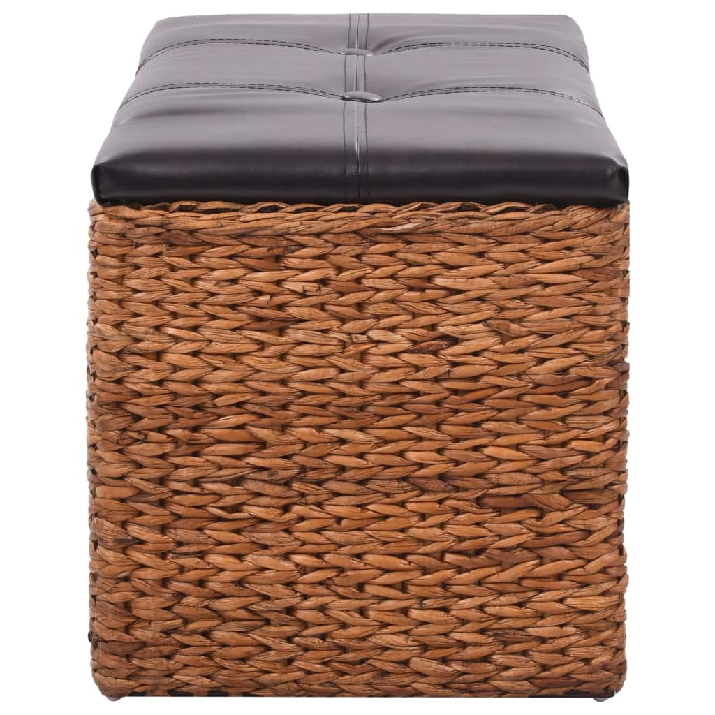 Bench with 2 Baskets Seagrass 71x40x42 cm Brown 5