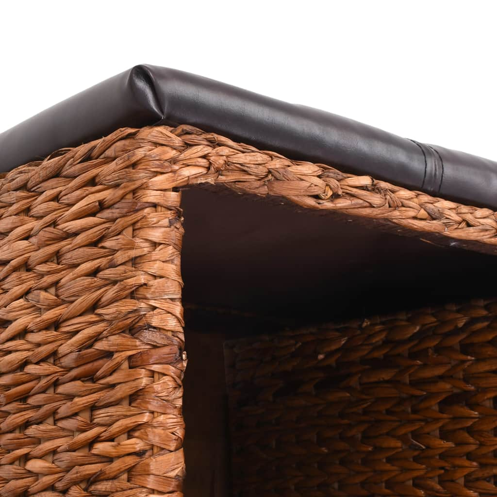 Bench with 2 Baskets Seagrass 71x40x42 cm Brown 8