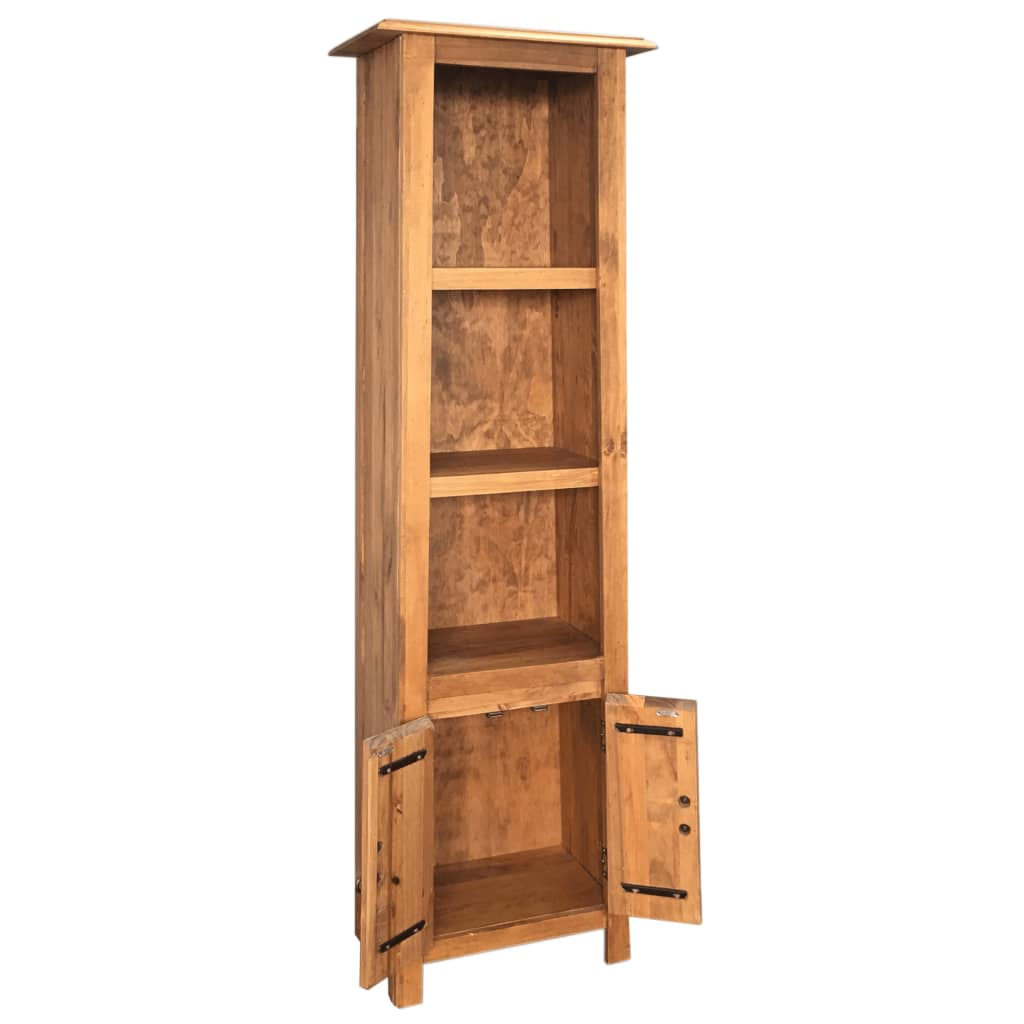 Freestanding Bathroom Cabinet Solid Recycled Pinewood 6