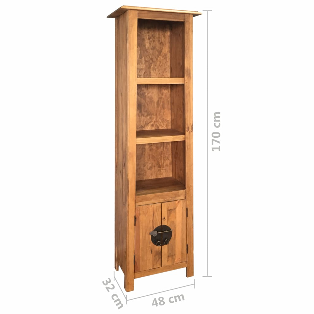 Freestanding Bathroom Cabinet Solid Recycled Pinewood 7