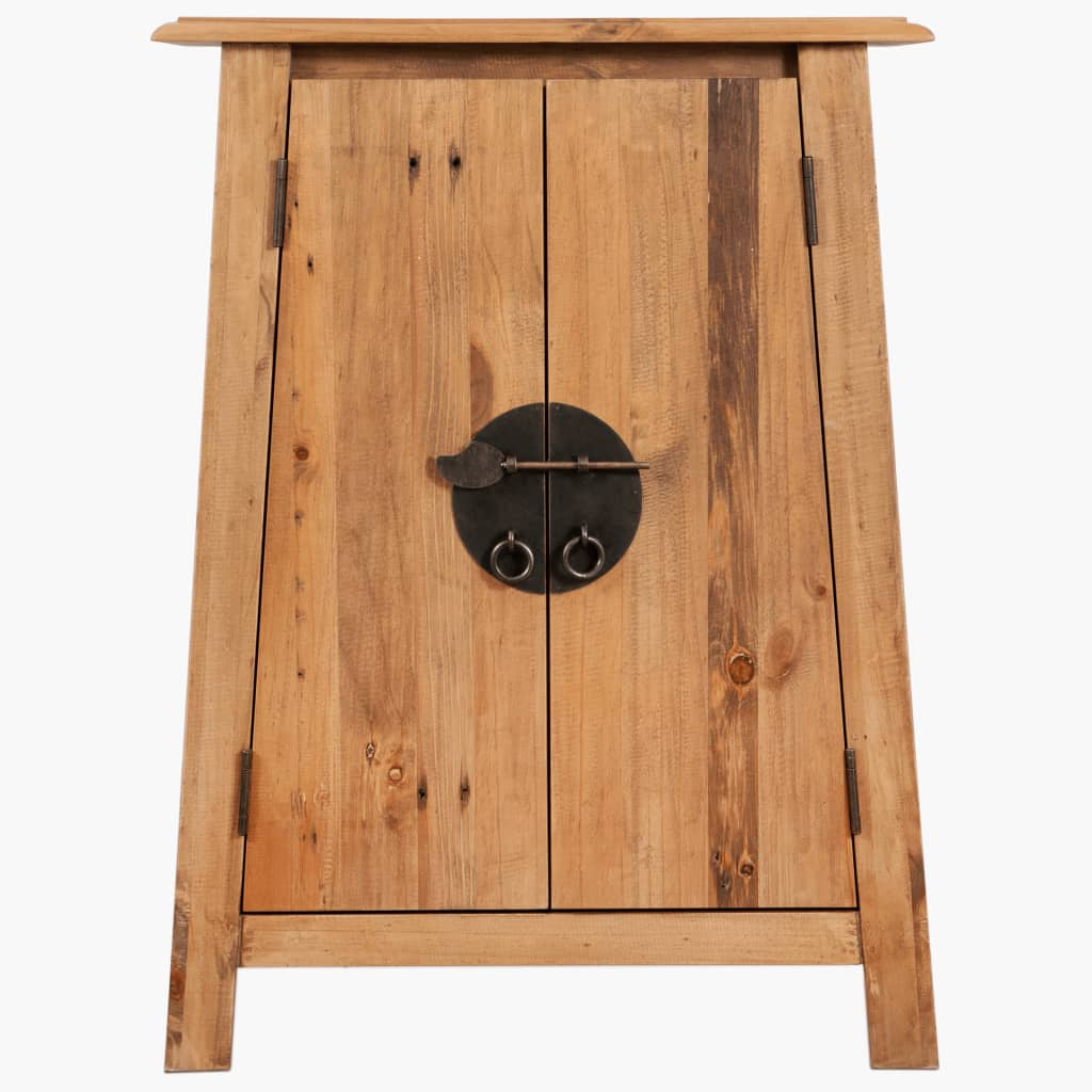 Bathroom Side Cabinet Solid Recycled Pinewood 59x32x80 cm 4