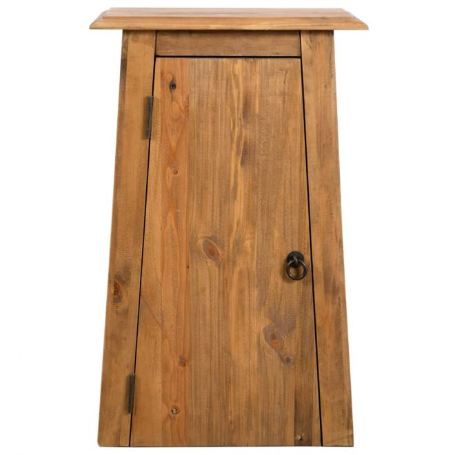 Bathroom Wall Cabinet Solid Recycled Pinewood 42x23x70 cm 3