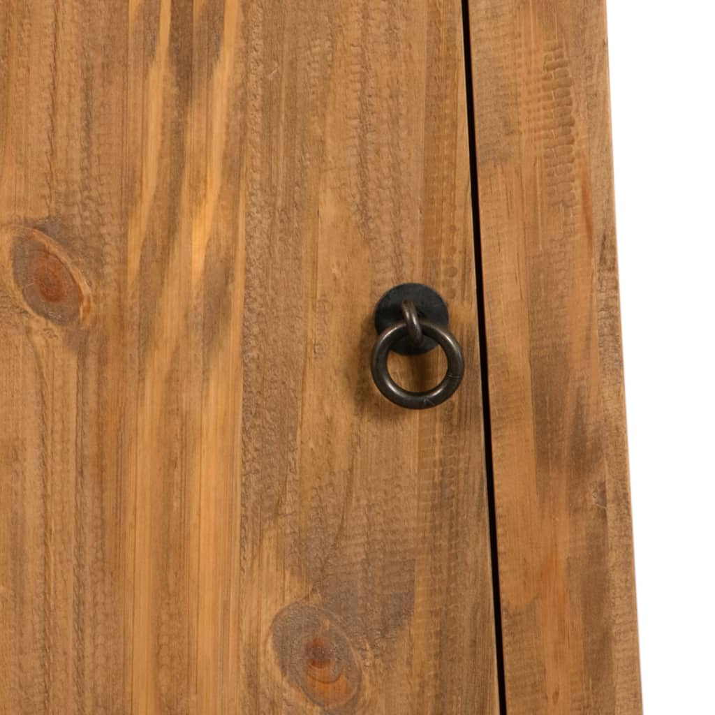 Bathroom Wall Cabinet Solid Recycled Pinewood 42x23x70 cm 8