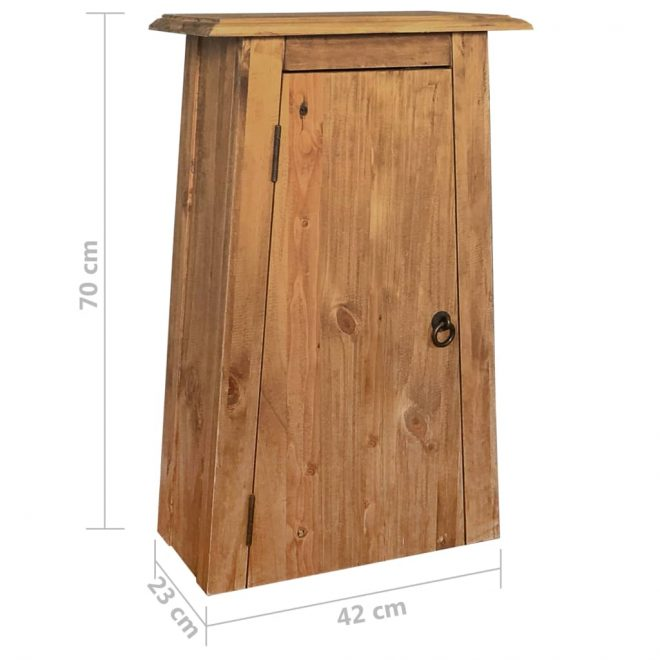 Bathroom Wall Cabinet Solid Recycled Pinewood 42x23x70 cm 9