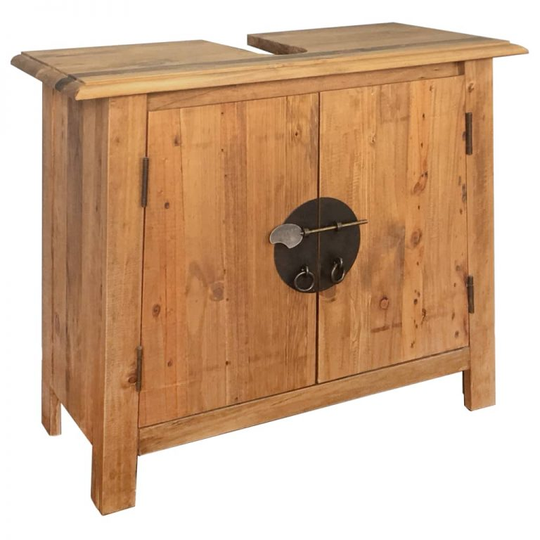 Bathroom Furniture Set Recycled Solid Recycled Pinewood 3