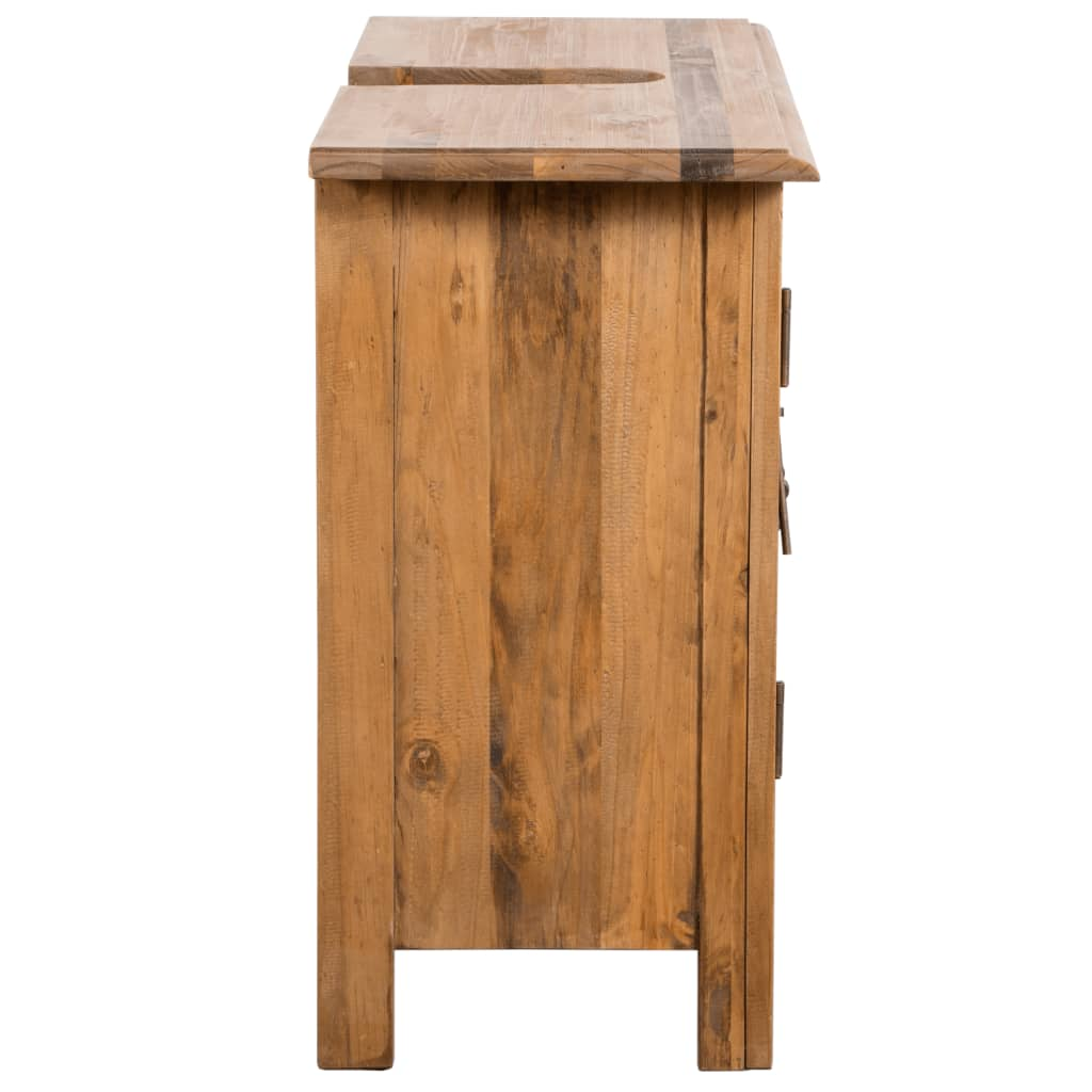 Bathroom Furniture Set Recycled Solid Recycled Pinewood 8