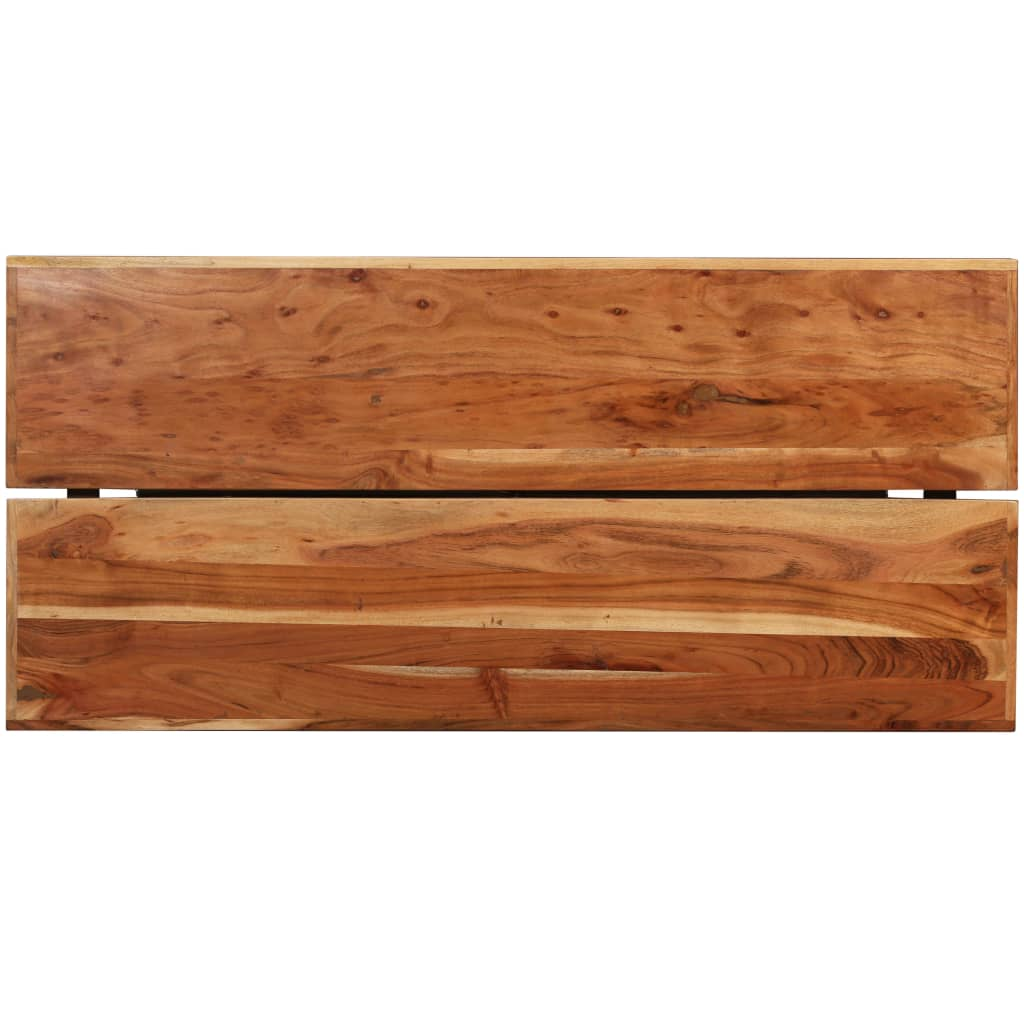 9 Piece Bar Set Solid Sheesham and Reclaimed Wood 4