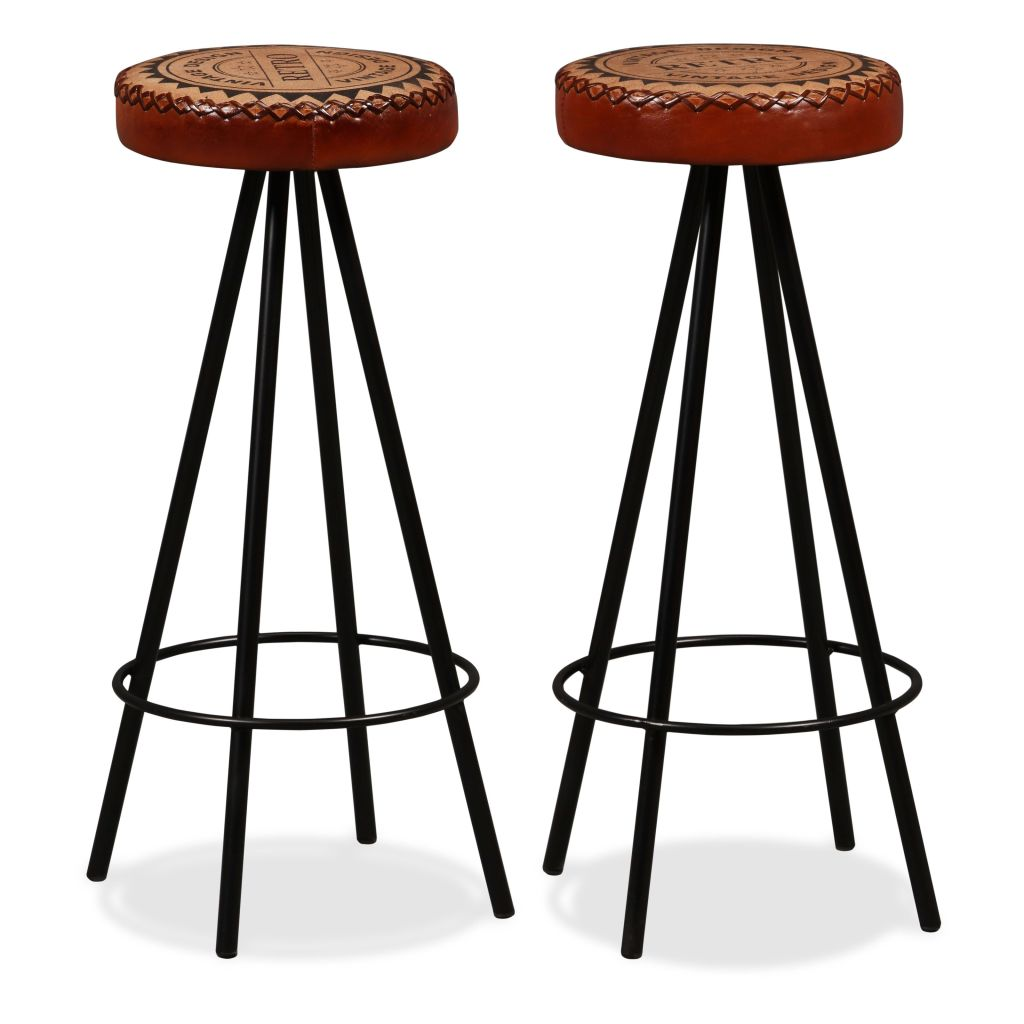 3 Piece Bar Set Solid Reclaimed Wood, Genuine Leather & Canvas 8